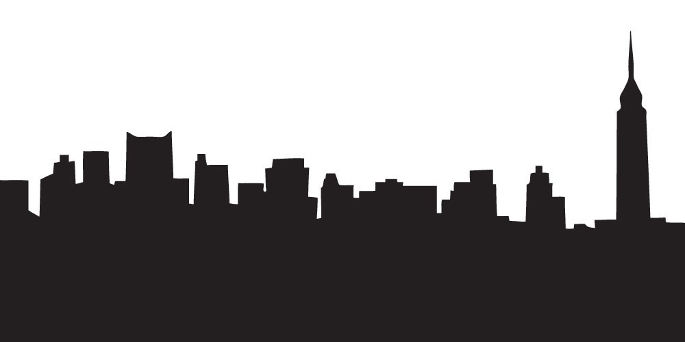 Black clipart skyline. La silhouette at getdrawings