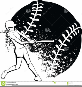 Black clipart softball. Free and white images