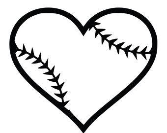 Black clipart softball. Heart and white clipartfest