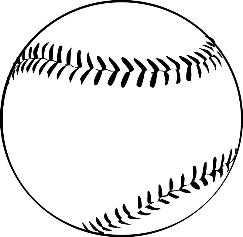 Free clip art baseball. Black clipart softball