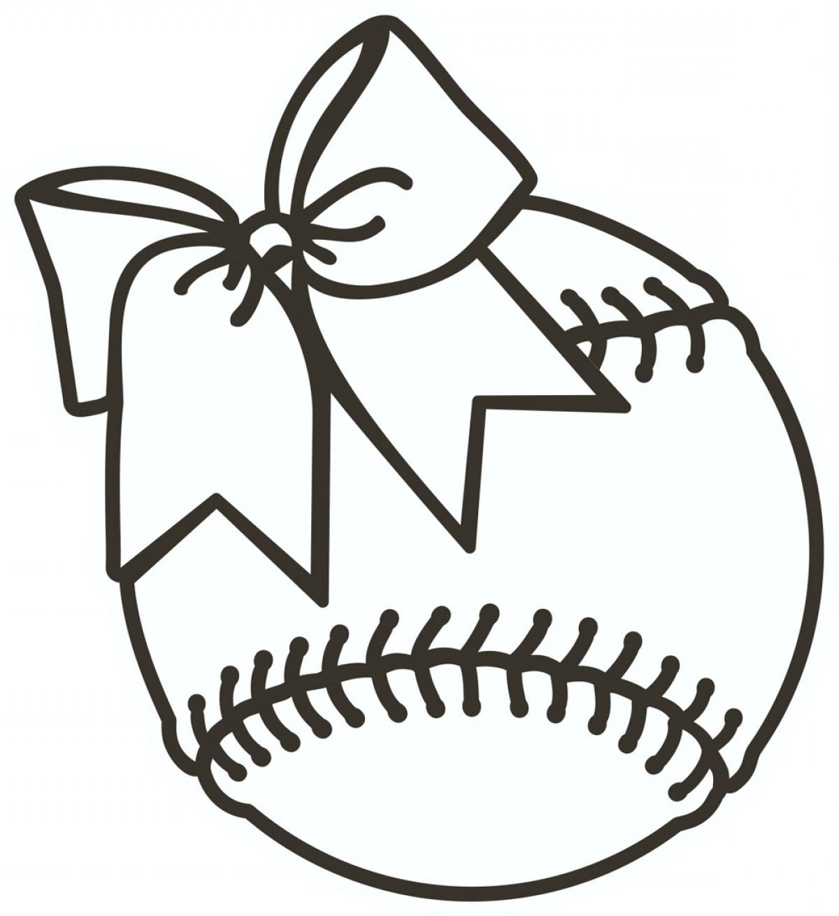 Black clipart softball. And white clip art