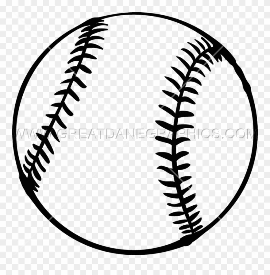 Black and white baseball. Softball clipart draw