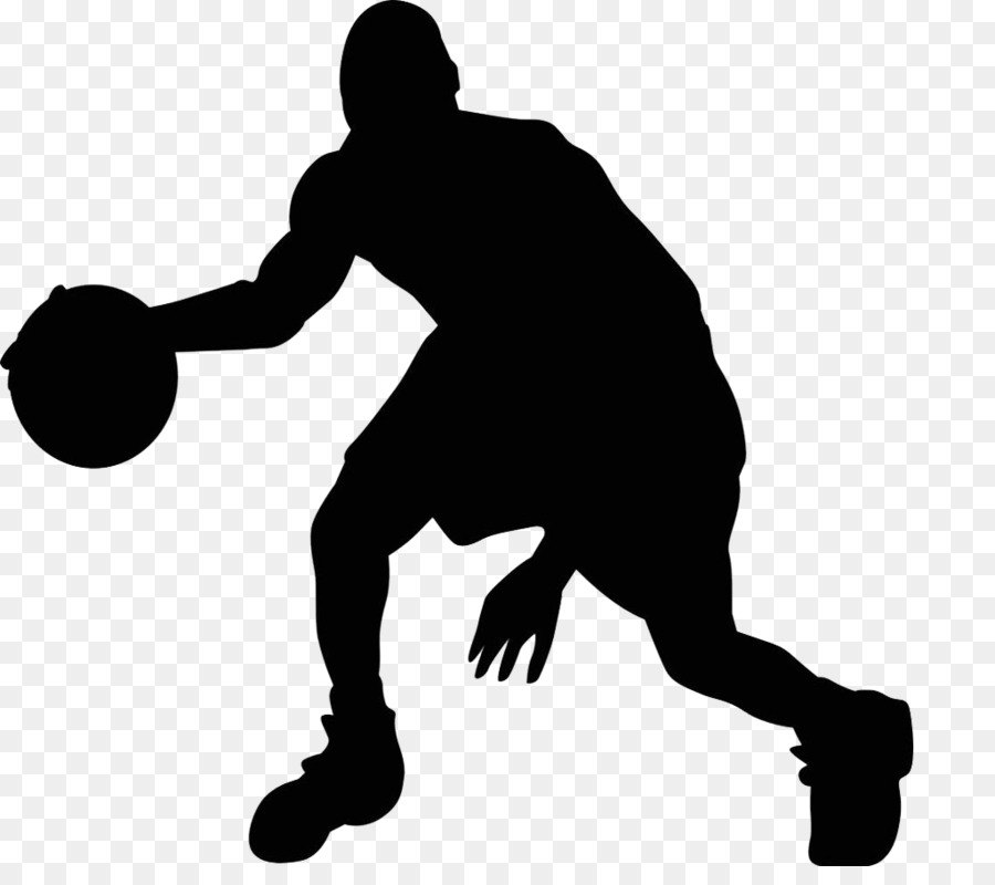 Silhouette basketball clip art. Black clipart sport