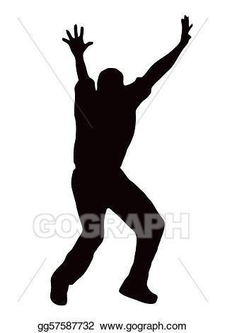 Vector silhouette bowler appealing. Black clipart sport
