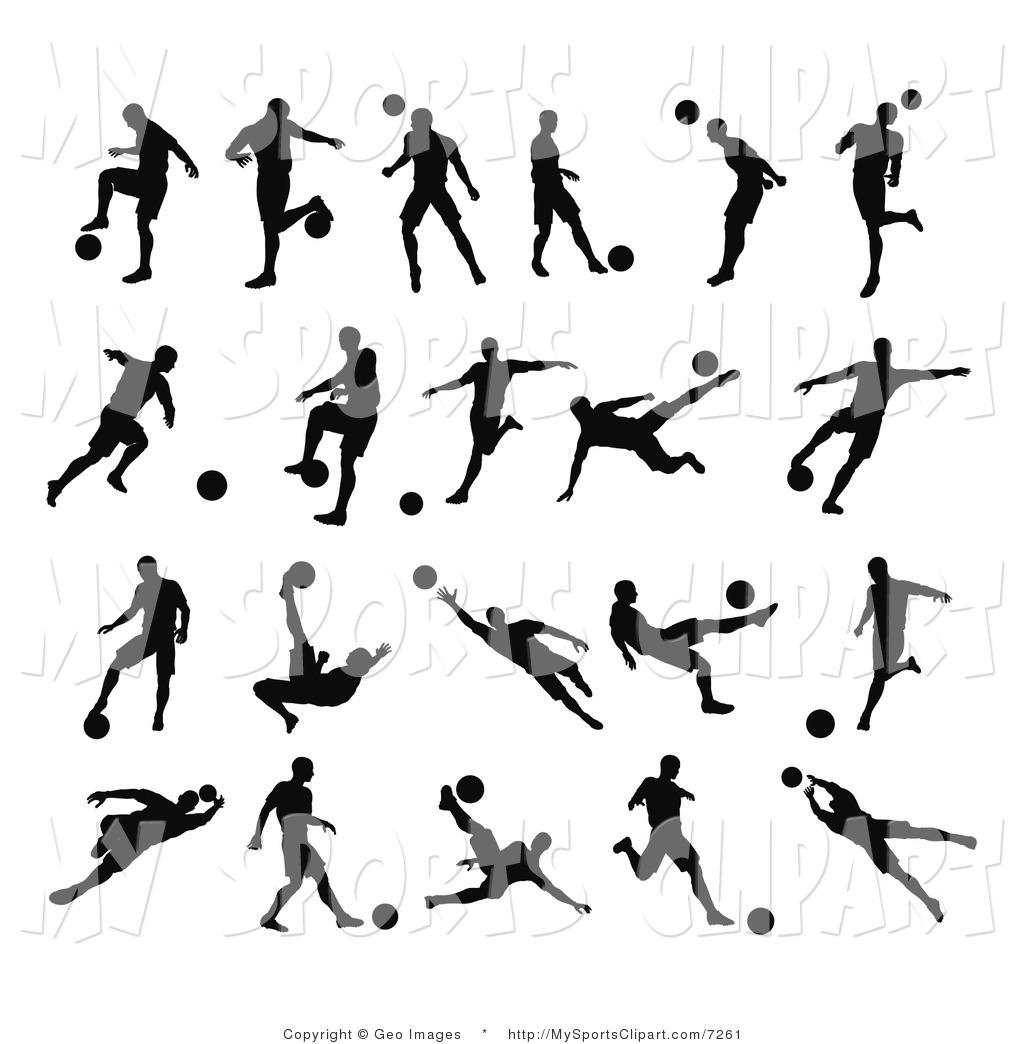 Soccer kids clip art. Black clipart sport