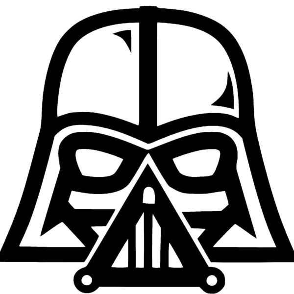 Black clipart star wars. And white darth vader