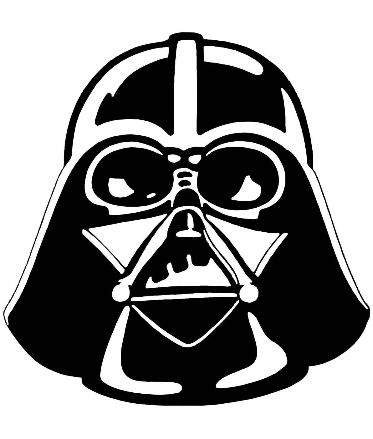 Black clipart star wars.  darth vader stencil