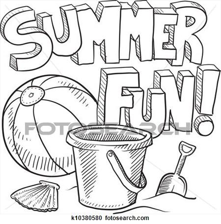 Fun . Black clipart summer