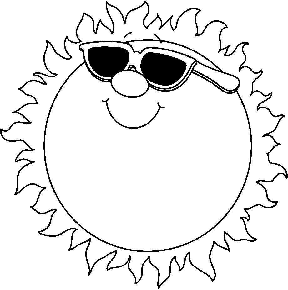 Free and white clip. Black clipart summer