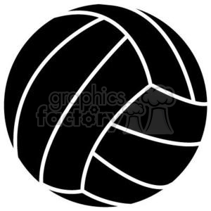 Volleyball clipart volleyball ball. Black royalty free