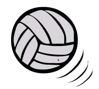 Volleyball clipart clip art. Free black and white