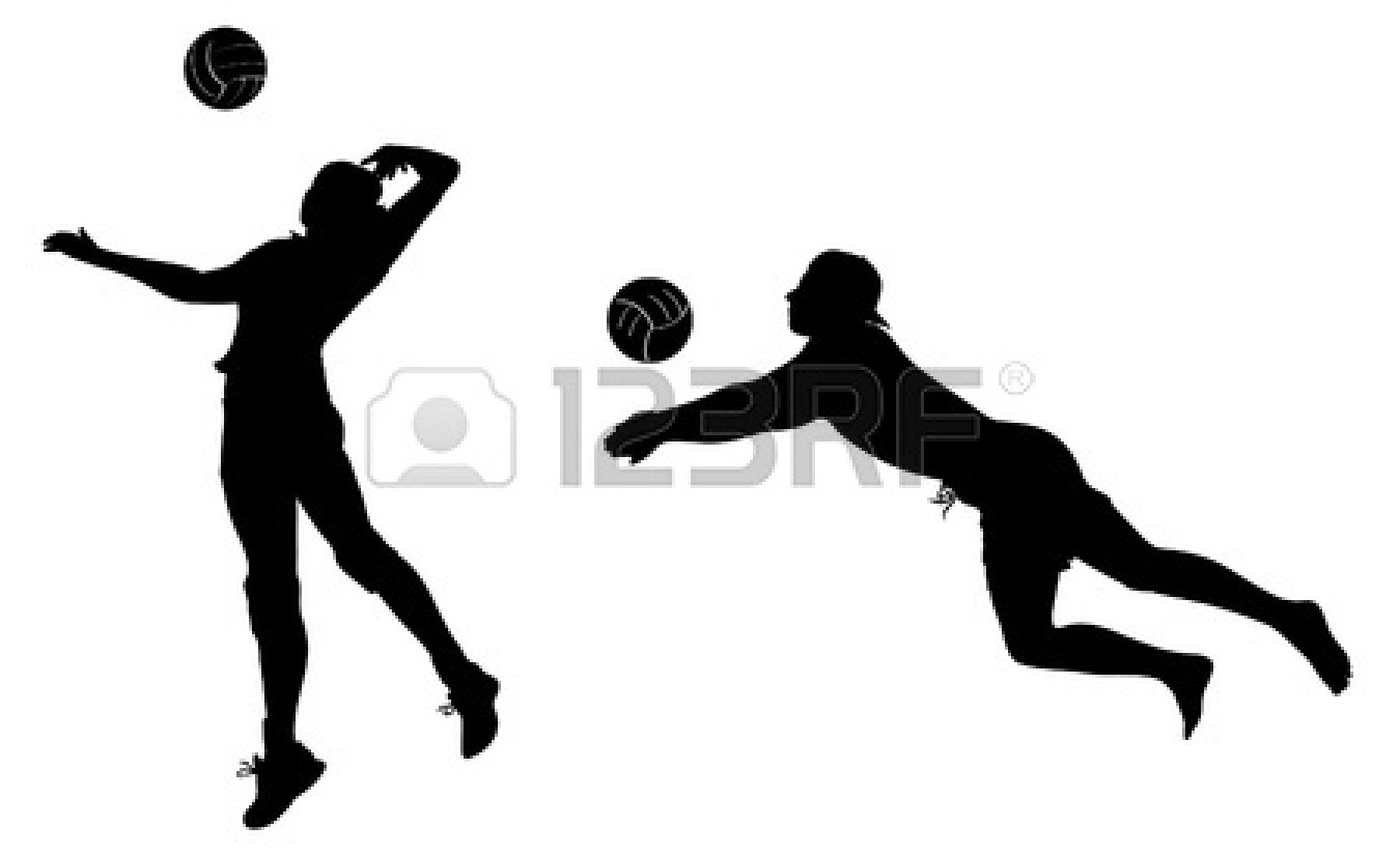 Black clipart volleyball. Players panda free images