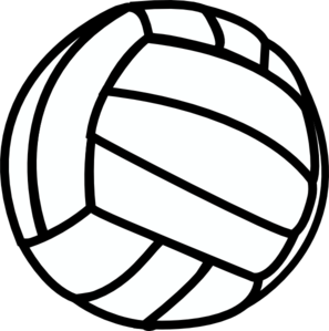 Black and white . Volleyball clipart logo