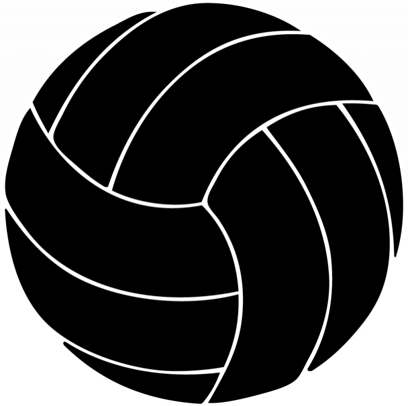 Hand clipart volleyball.  collection of black