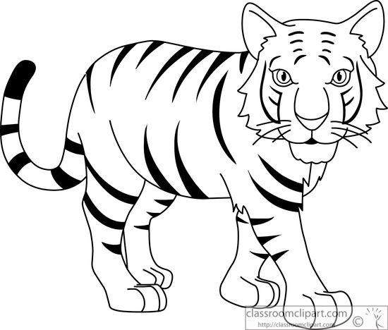 black clipart white tiger