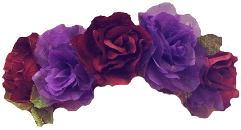 images about flowercrown. Black flower crown png