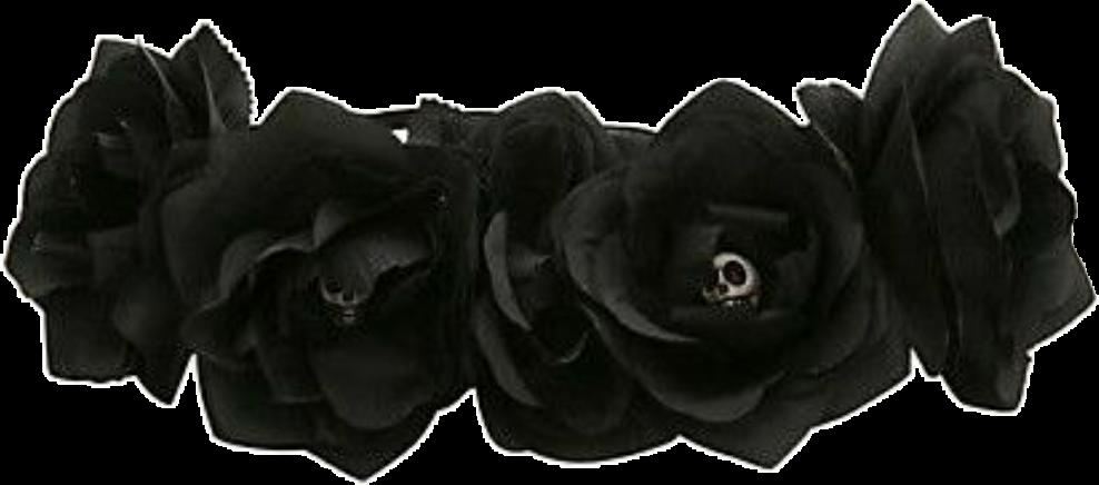 Black flower crown png. Flowercrown blackflowercrownuse tumblr gothic