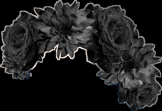 Flowercrownsticker flowercrown blackflowers blac. Black flower crown png