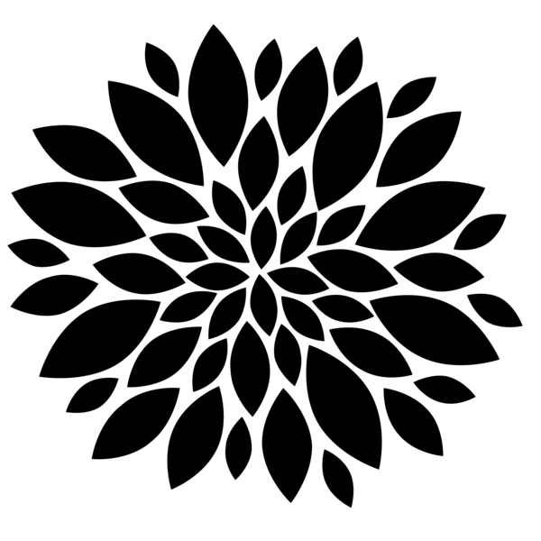 Black flower png. Flowers image vector clip