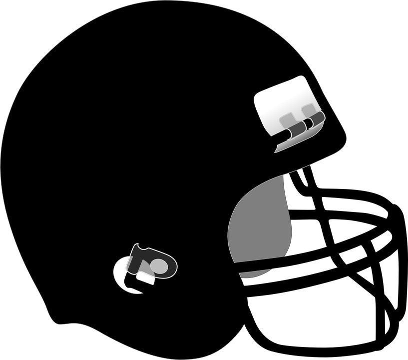 free and white. Black football helmet png