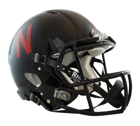 Black football helmet png. Nebraska revolution speed authentic