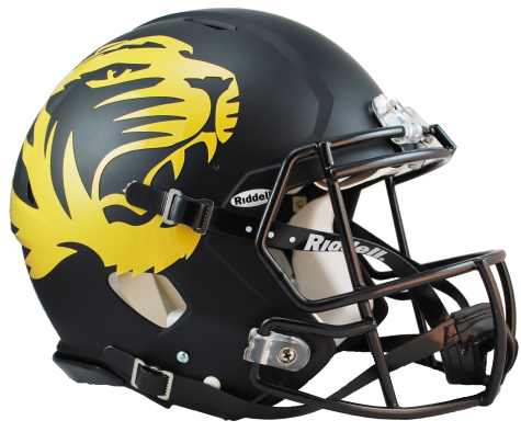Missouri matte revolution speed. Black football helmet png