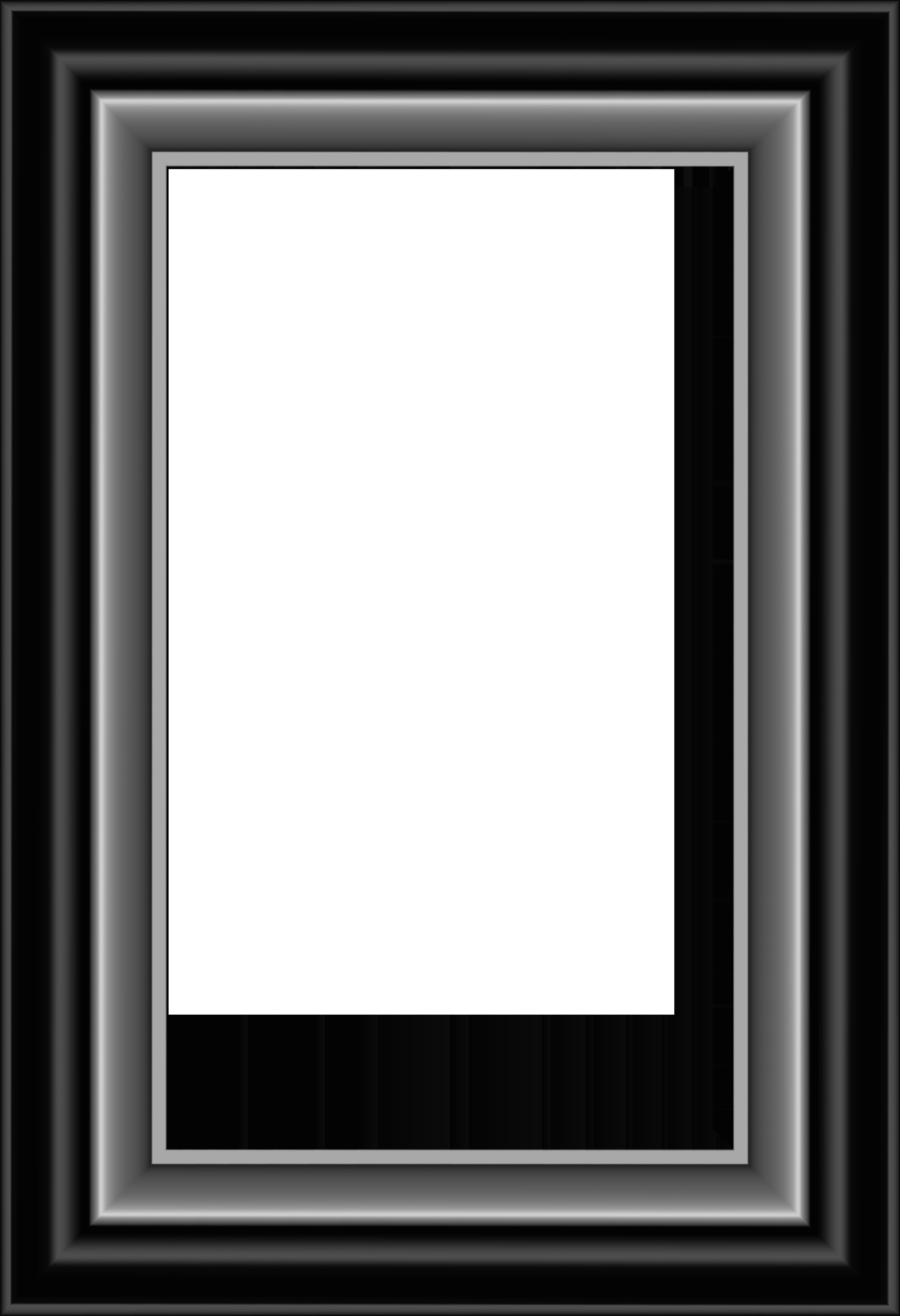 And silver transparent image. Black frame png