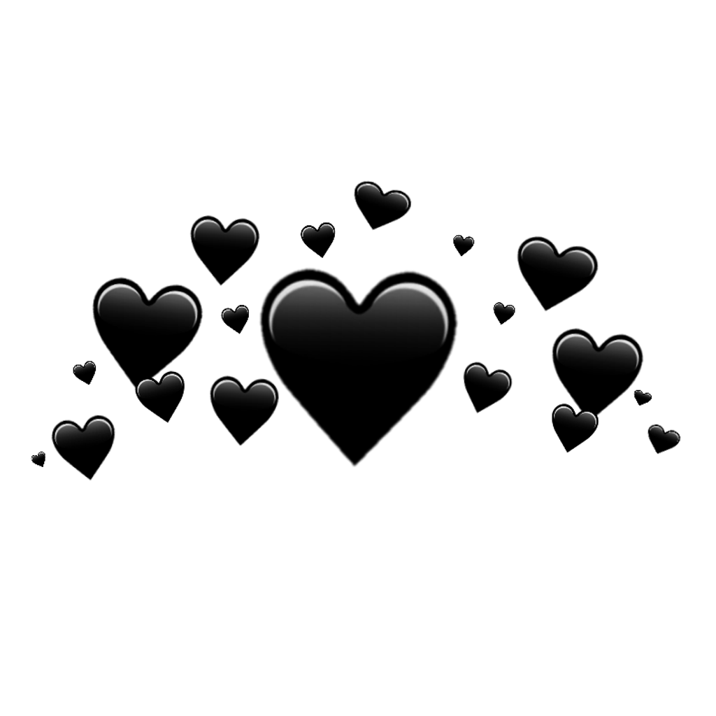 Black hearts png. Crown blackhearts sticker by