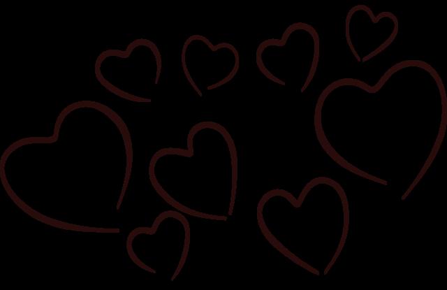 Image clip art nzd. Black hearts png