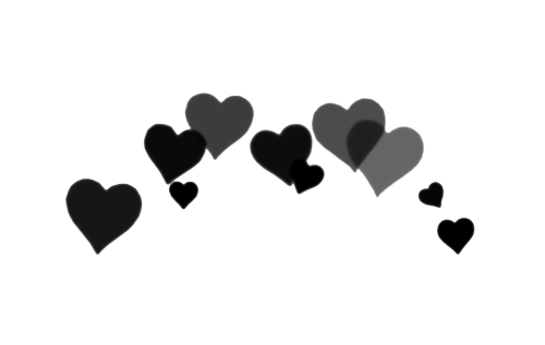 Image in s collection. Black hearts png