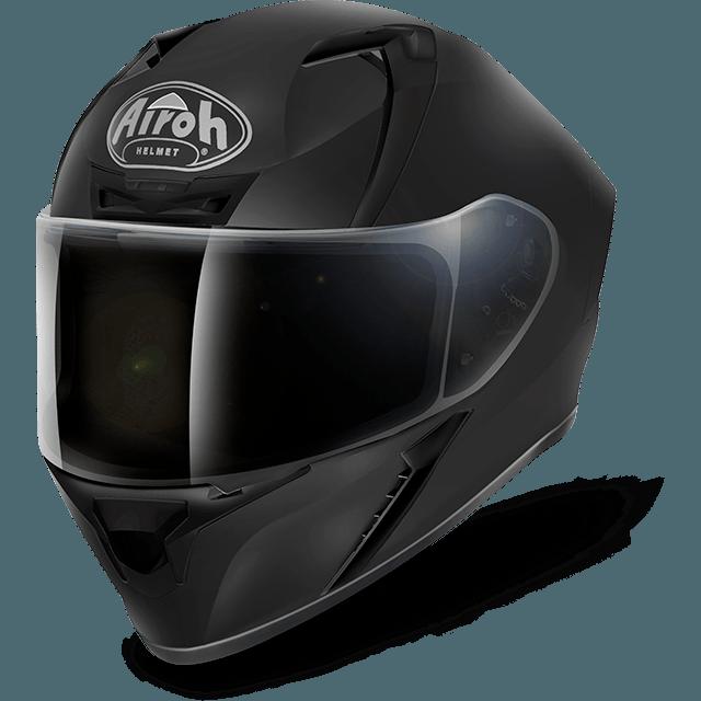 Black helmet png. Airoh valor solid matt