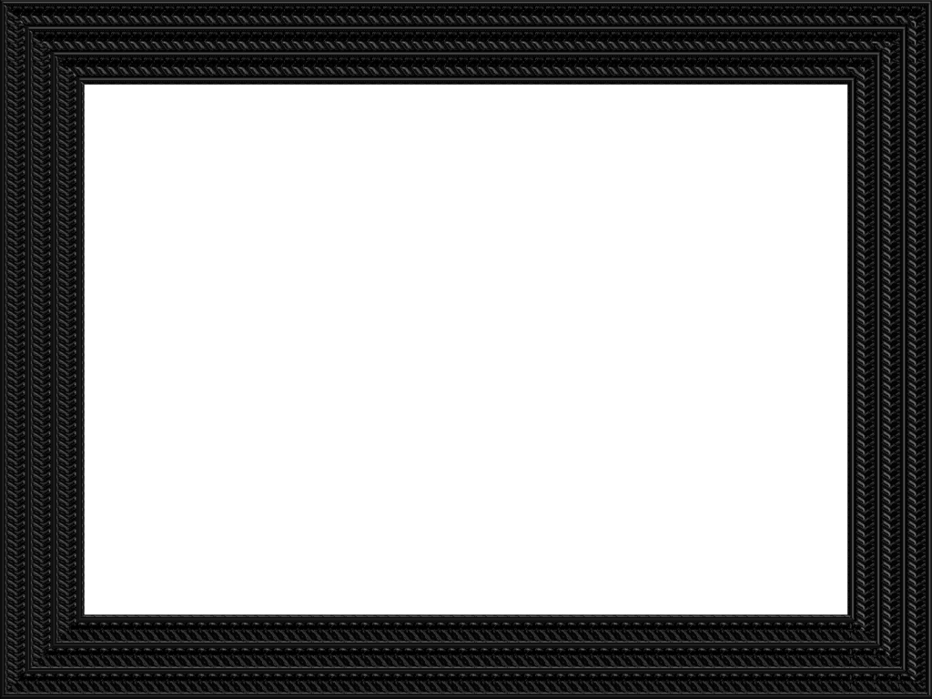 Border rectangle photo box. Black picture frame png