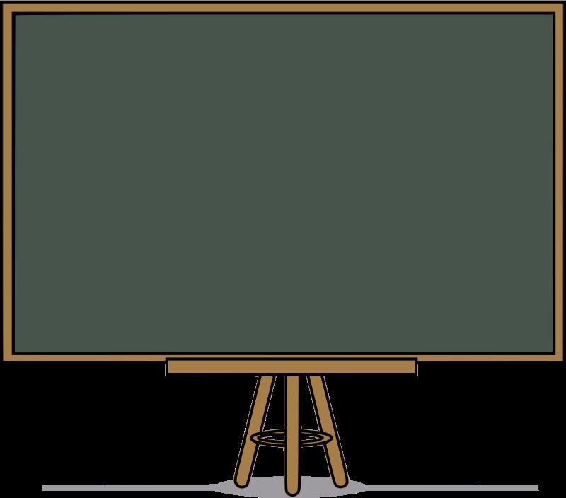 Cartoon technology table television. Blackboard clipart