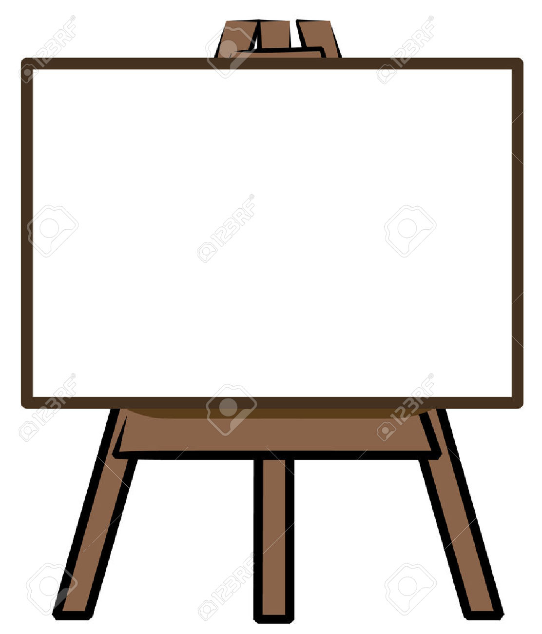 Painter clipart easel board. Black free download best