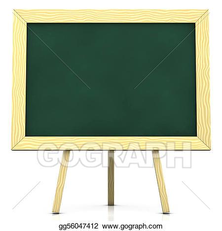 Blackboard clipart blank. Stock illustration illustrations