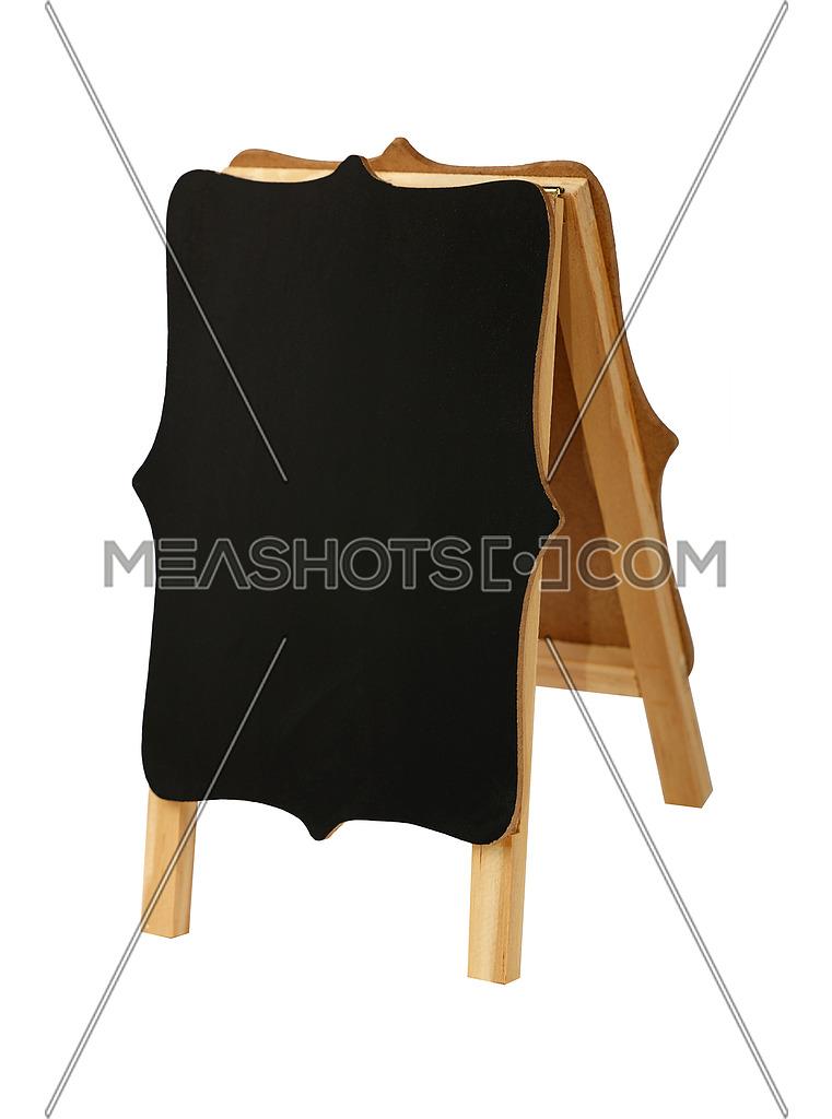 One black sign stand. Blackboard clipart blank chalkboard
