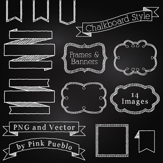 Frames and banners clip. Chalkboard clipart chalkboard sign