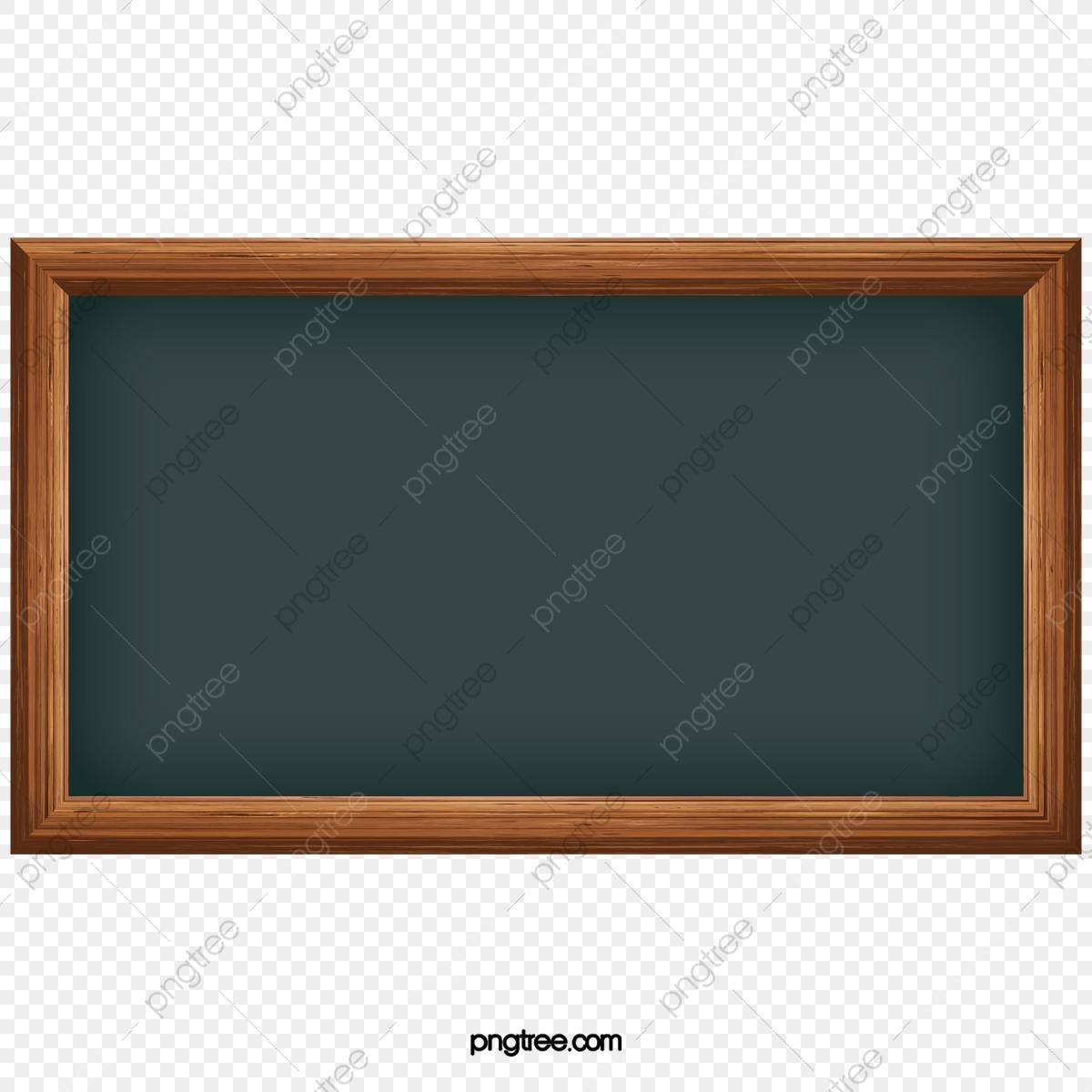 Blackboard clipart cartoon. Vintage wooden frame empty