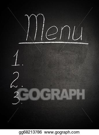 Stock illustration menu is. Blackboard clipart chalk