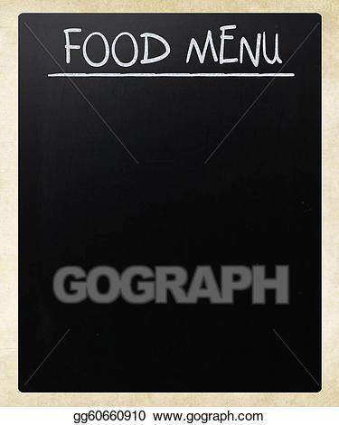 Stock illustration food menu. Blackboard clipart chalk