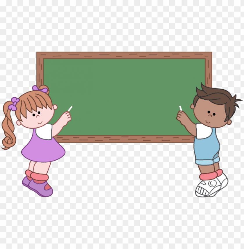 Blackboard clipart clip art. Children in png format
