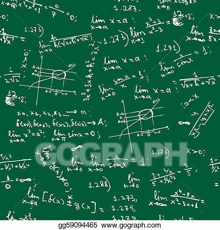 Vector art seamless background. Blackboard clipart college math