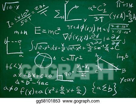 Blackboard clipart college math. Stock illustration formulas on