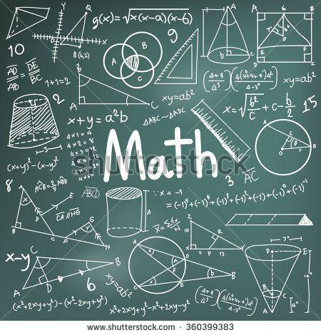 Blackboard clipart college math. Theory and mathematical formula