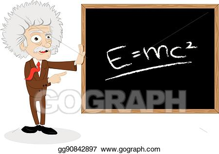 Blackboard clipart college math. Vector art funny professor