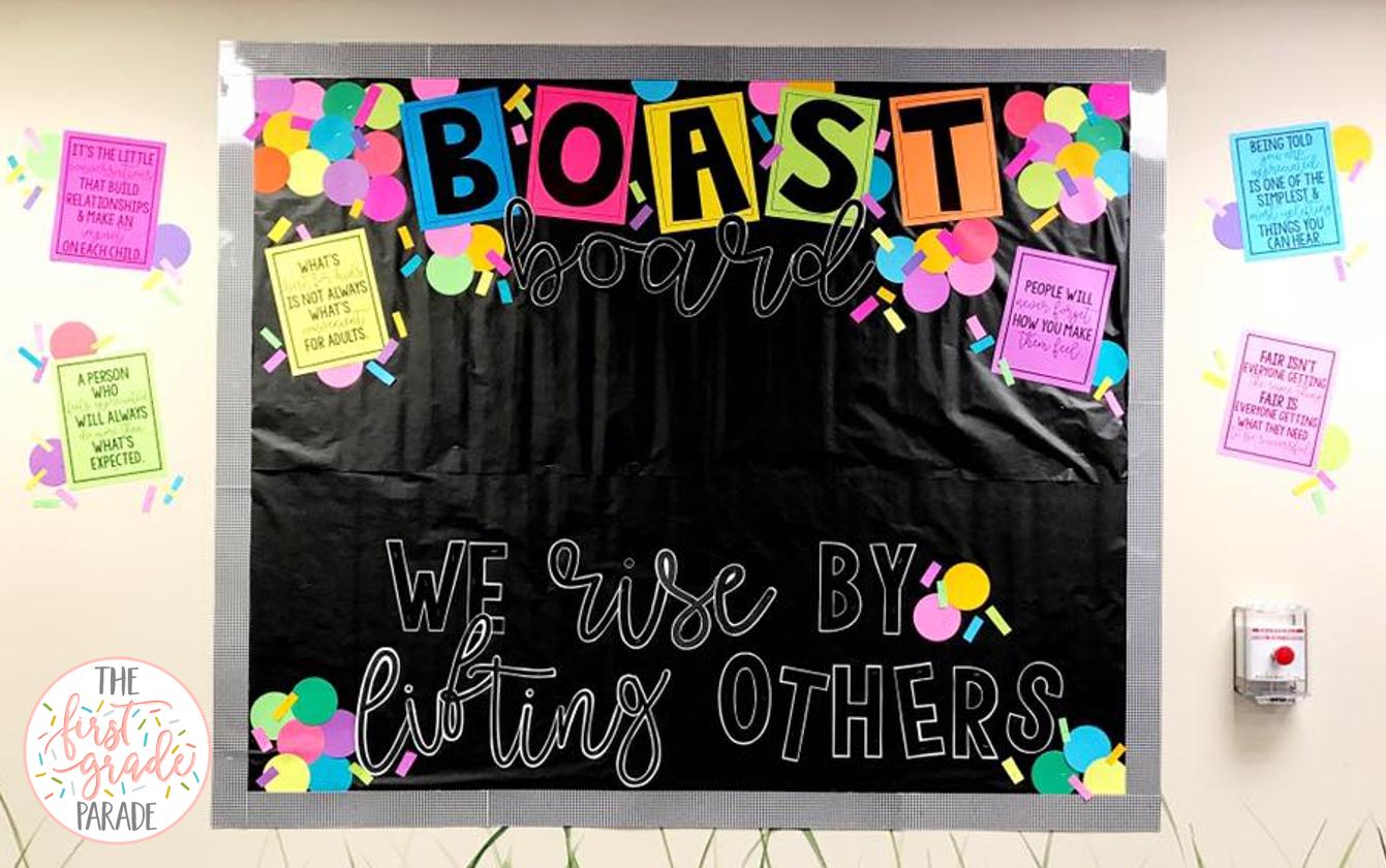 Blackboard clipart display board. Boast bulletin idea the
