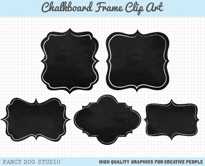 Chalkboard clipart frame. Free border cliparts download