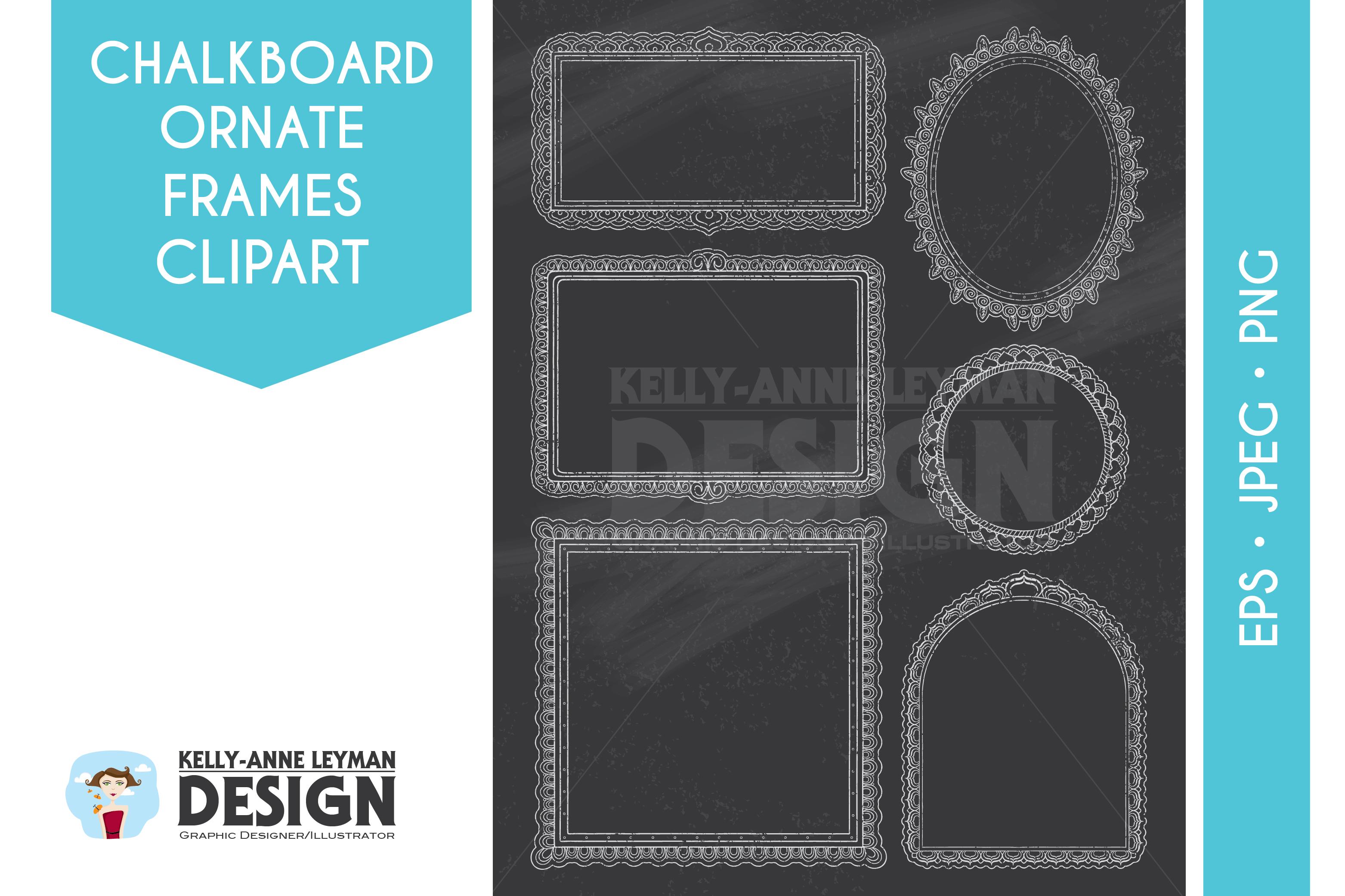 Chalkboard doodle digital design. Blackboard clipart frame