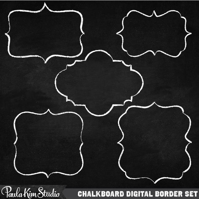 Blackboard clipart frame. Chalk borders incep imagine