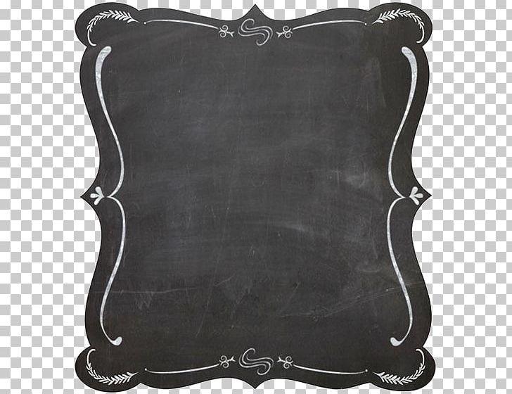 Chalk png black and. Blackboard clipart frame